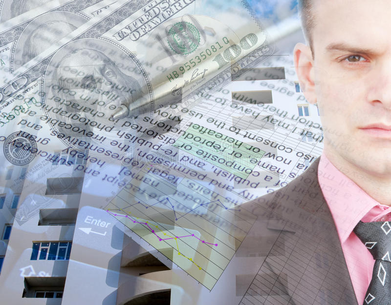 Business Collage Royalty Free Stock Photography