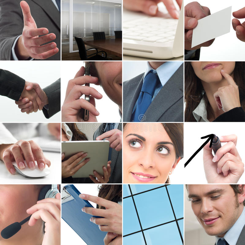 Business collage. Composition of business photo concept