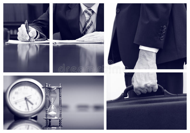 Business collage. Business concepts, business metaphors stock image