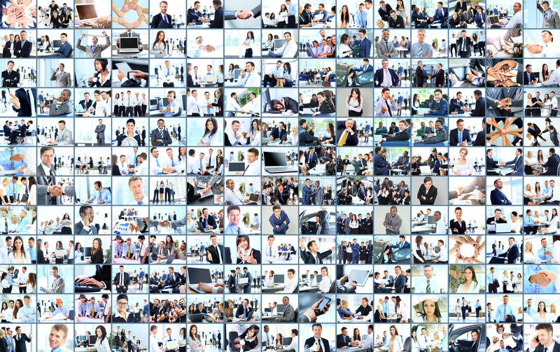 Business collage. Made of many business pictures royalty free stock photography