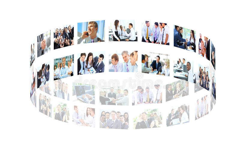 Business collage royalty free stock photos