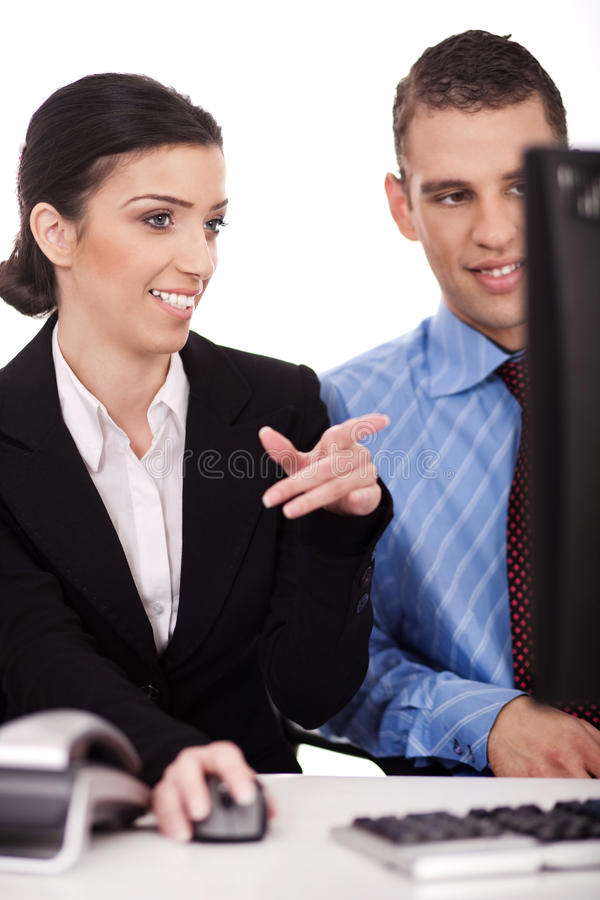 Download Business Colleague Discussing About Work Stock Image - Image: 14100573