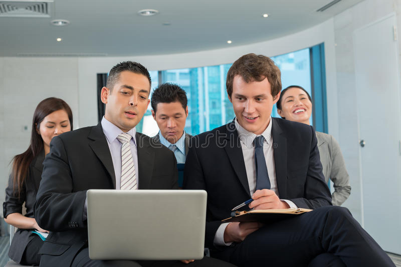 Business colleagues royalty free stock photos