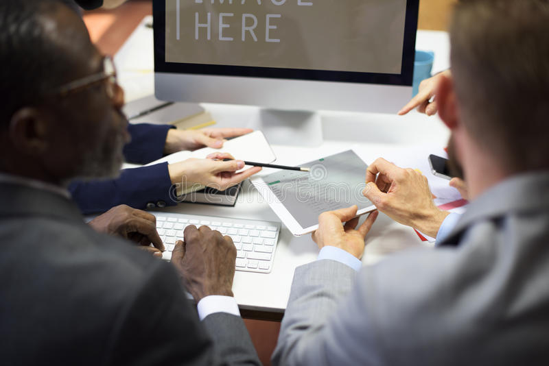 Business Colleagues Conference Teamwork Concept royalty free stock photography
