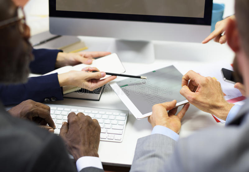Business Colleagues Conference Teamwork Ideas Concept royalty free stock photo