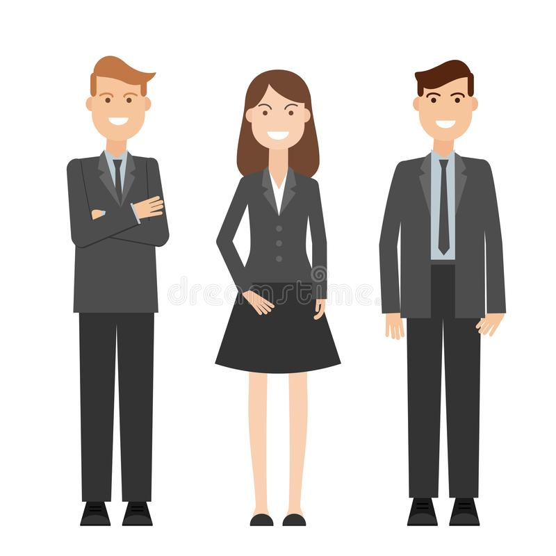 Vector detailed characters people, business people men and women. royalty free illustration