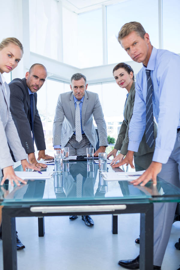 Business colleagues discussing about work royalty free stock photo