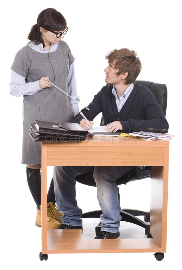 Business colleagues in the office royalty free stock photo