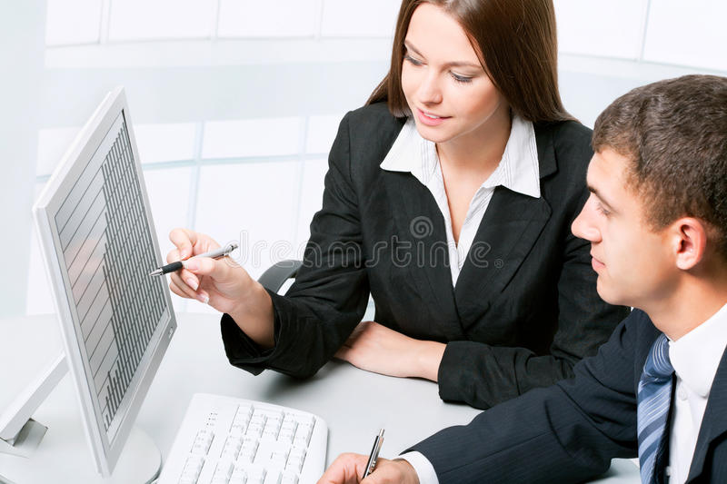 Download Business collegues stock image. Image of monitor, employee - 26663385