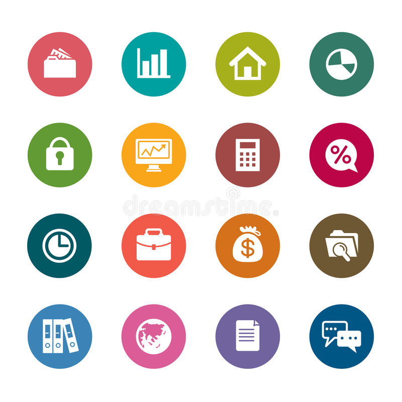 Business Color Icons stock photos