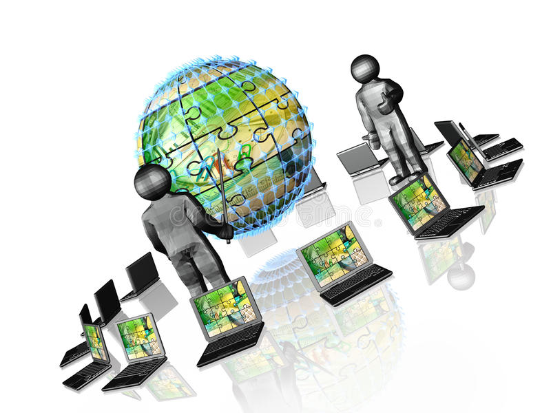 Business communication stock illustration