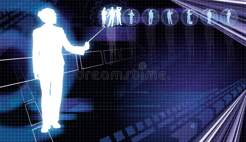 Business Communication 3. Business people showing global communication concept on dynamic background vector illustration