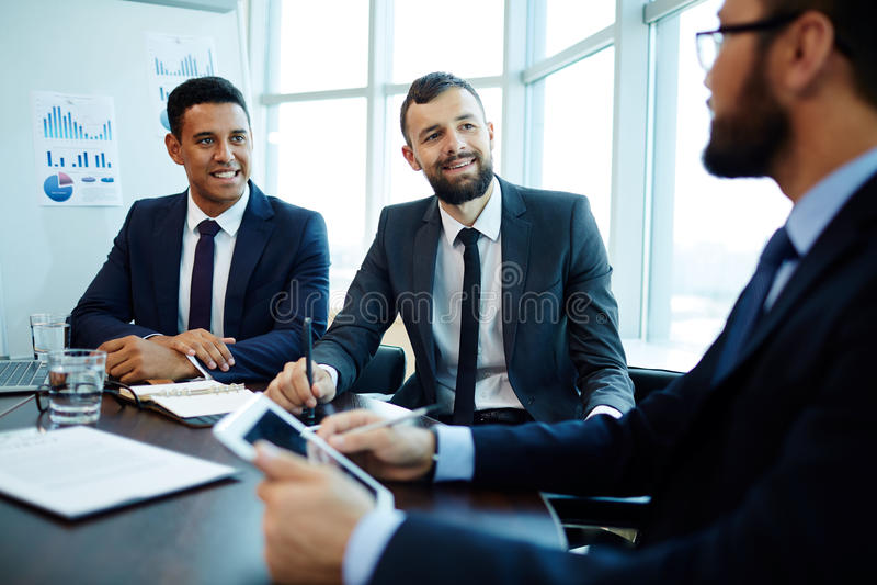 Business communication royalty free stock photo