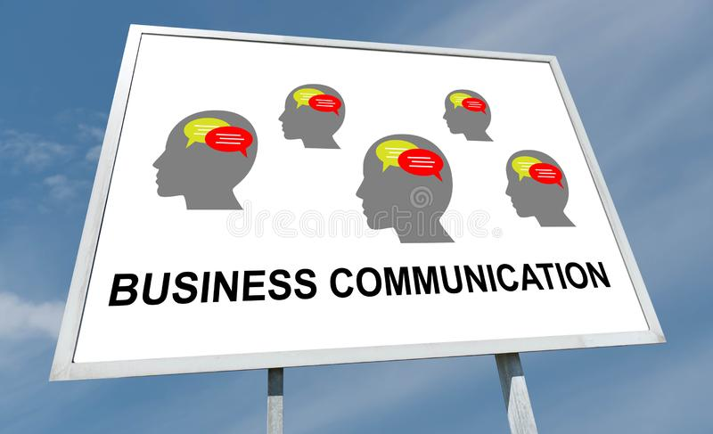 Business communication concept on a billboard royalty free stock photo