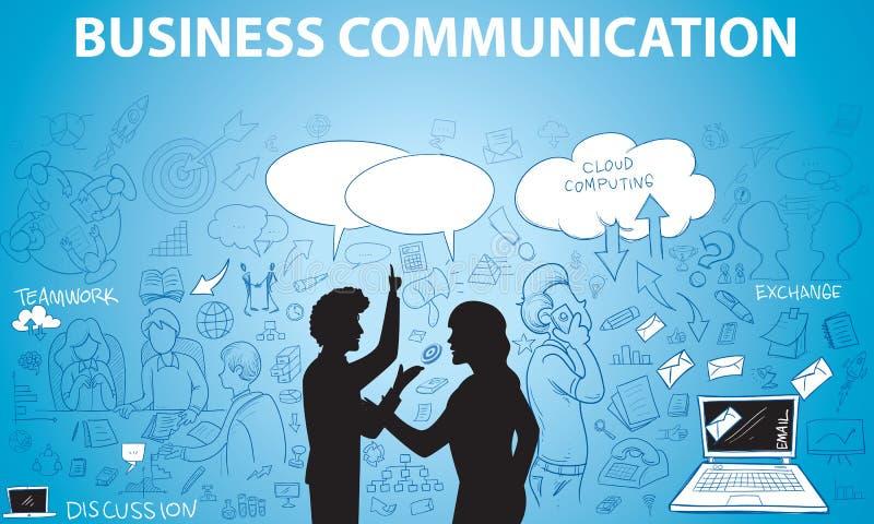 Business Communication Doodle royalty free illustration