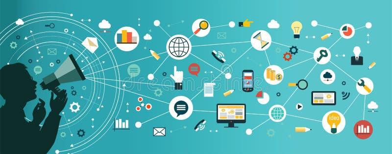 Business communication royalty free illustration