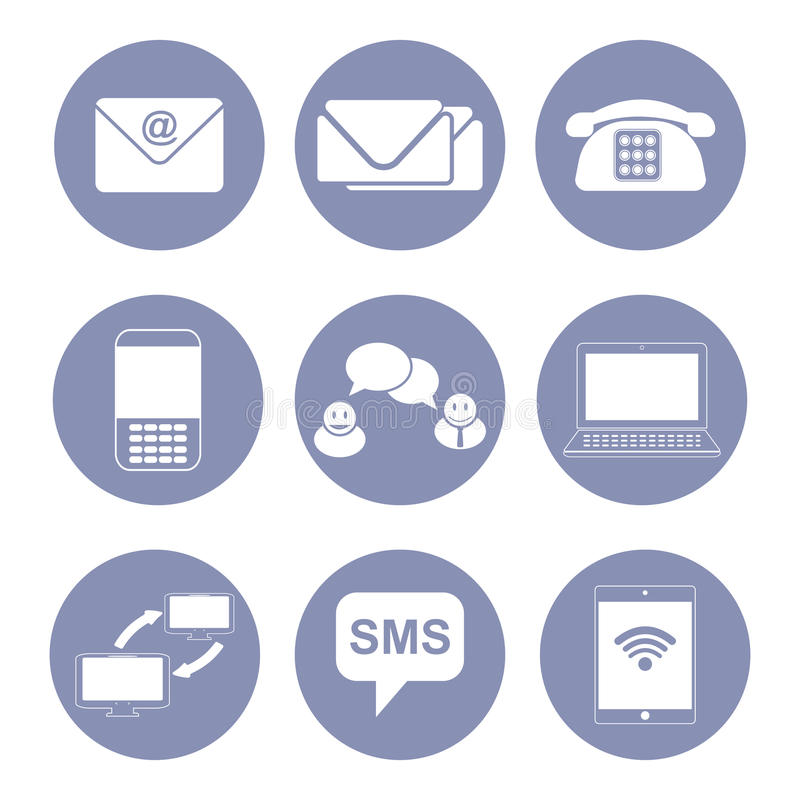 Business Communication Icon Set Collection For Design Presentation