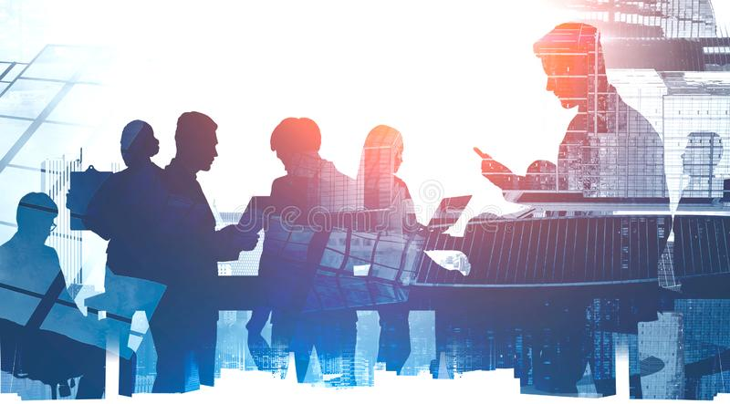 Business communication and teamwork concept stock photography