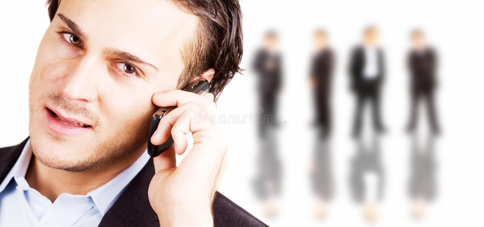 Business communications. Business concept photo depicting communications and team work stock photography