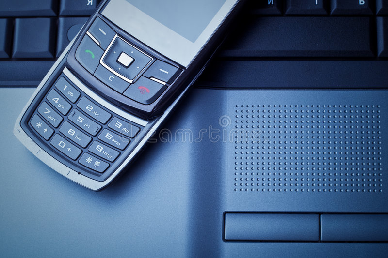 Business communications blue toned. Concept photo stock photo
