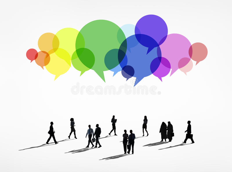 Business Communications. With Speech Bubbles vector illustration