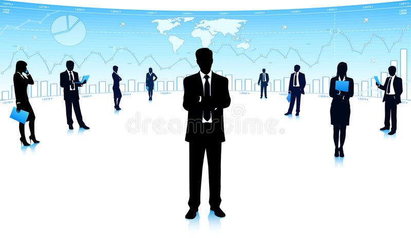 Business community royalty free stock images