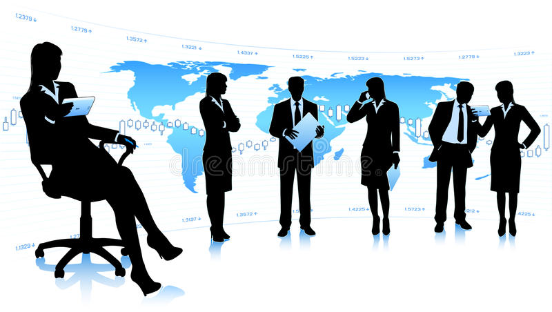 Business community royalty free stock image
