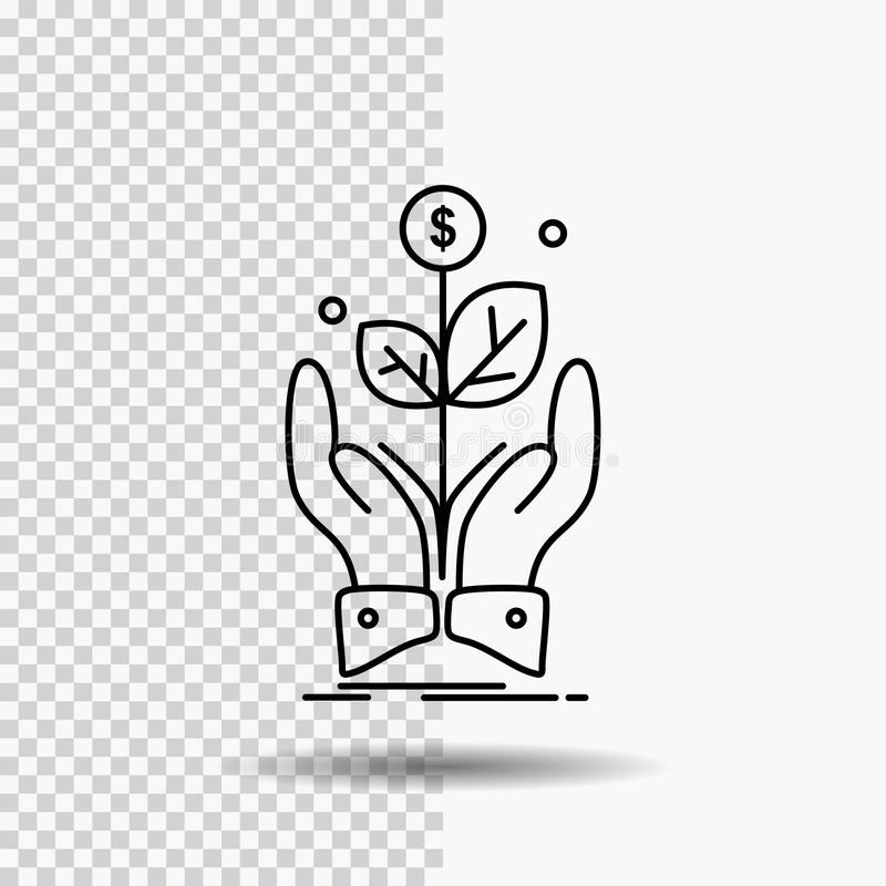 business, company, growth, plant, rise Line Icon on Transparent Background. Black Icon Vector Illustration vector illustration