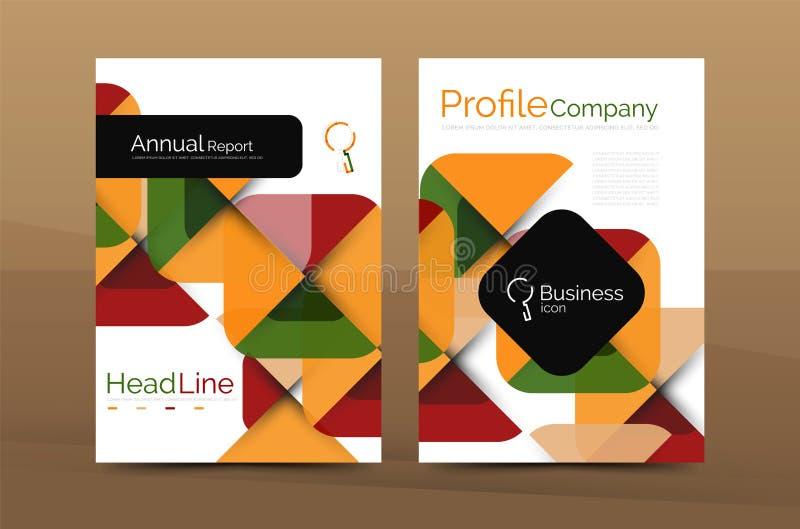 Business company profile brochure template vector illustration