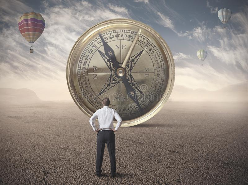 Business compass royalty free stock images