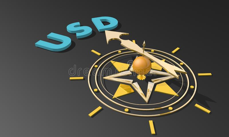Business compass concept stock illustration
