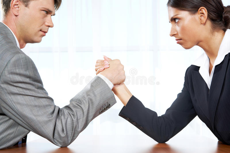 Business competition royalty free stock images
