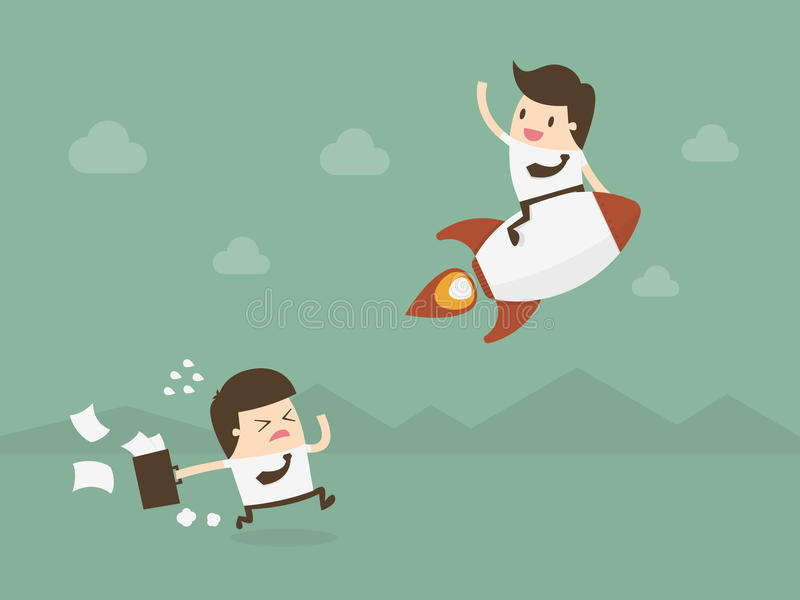 Business competition. royalty free illustration