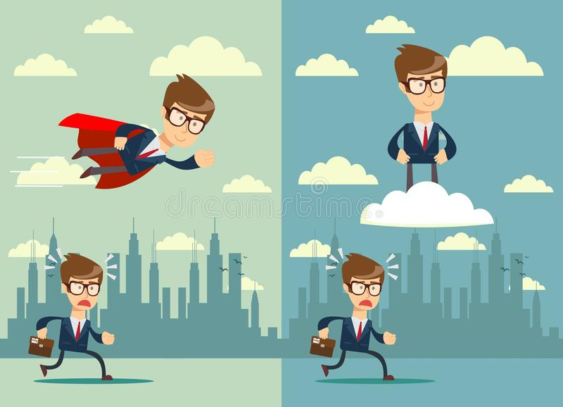 Business competition. Competitive advantage. royalty free illustration