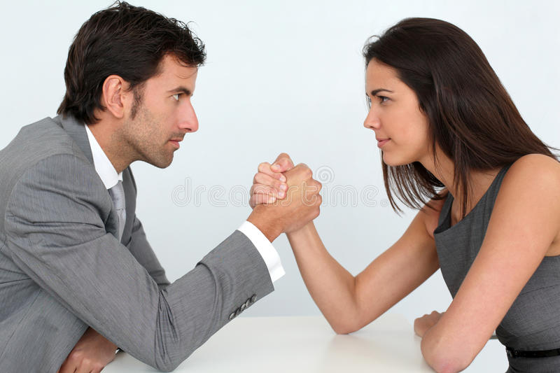 Business competition. Business people and professional parity royalty free stock photo