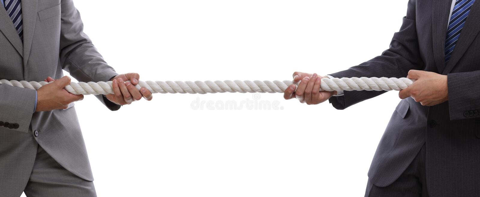 Business competition tug of war stock photography