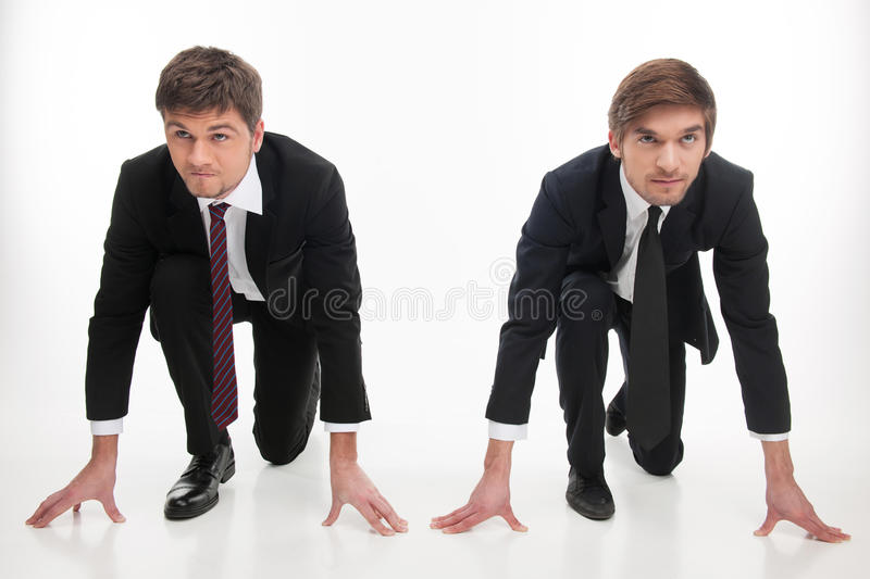 Business competition. royalty free stock image