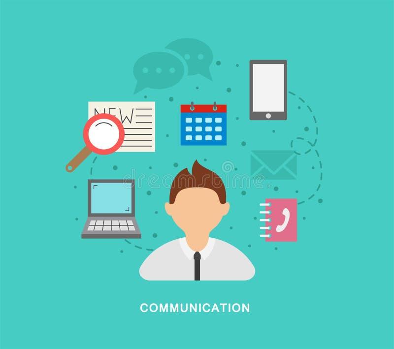 Business comunication royalty free illustration