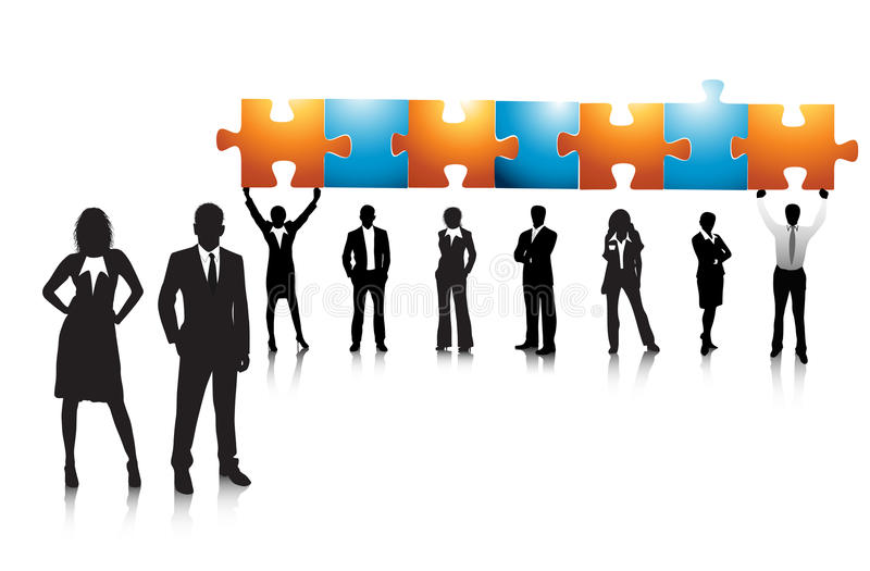Business concept. Illustration of business team. Very useful business concept stock illustration