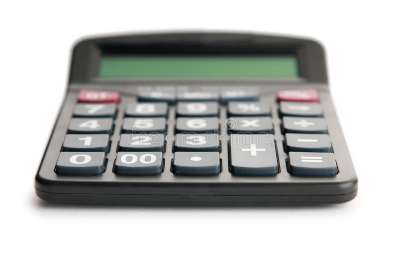 Business concept. With accounting calculator stock photos