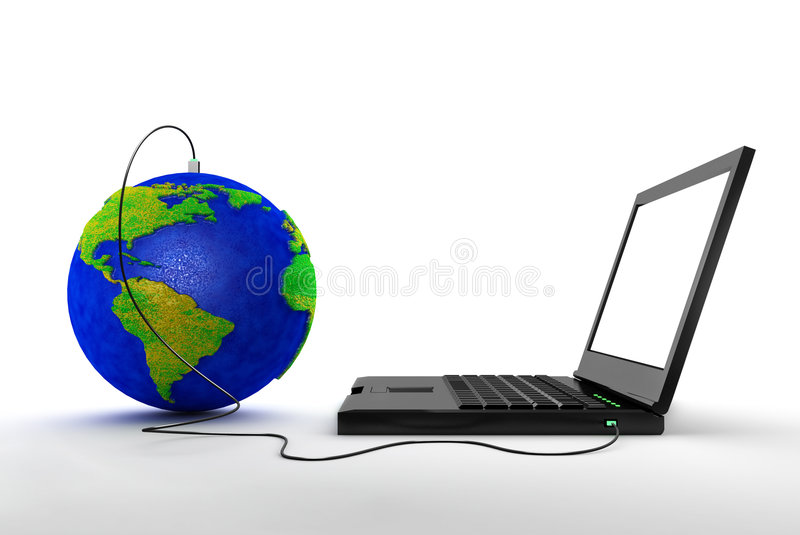 Business concept. Connect to the world by internet