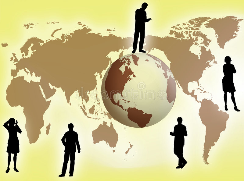 Business concept. Business team all around the world for business concept vector illustration