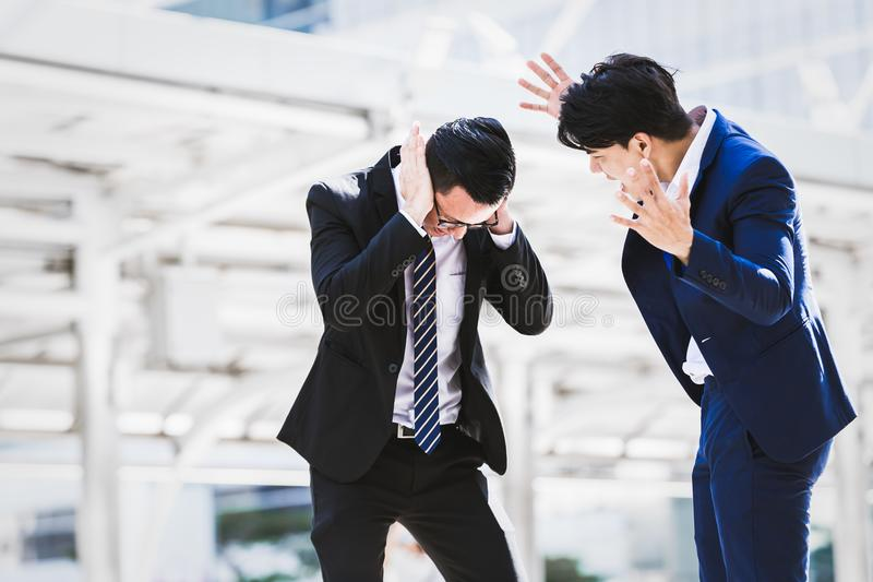 Business concept angry royalty free stock photography