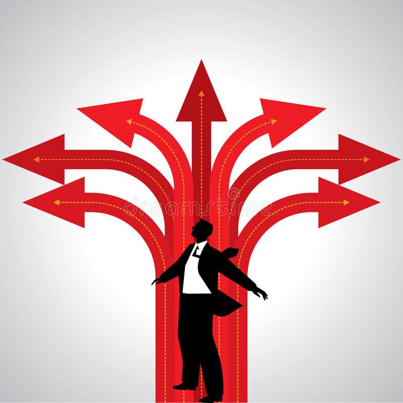 Business concept with arrows stock illustration