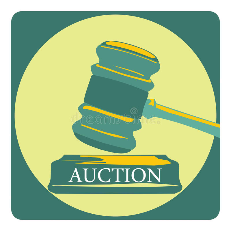 Business concept with auction sign vector illustration