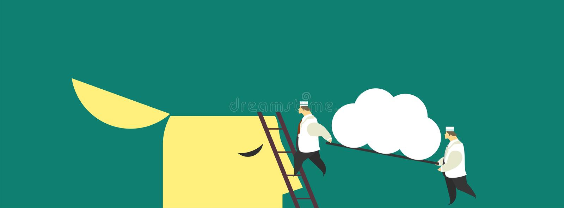 Business concept brain stock illustration
