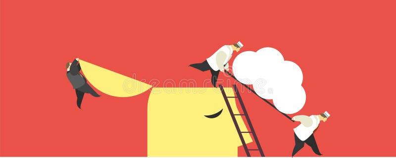 Business concept brain vector illustration