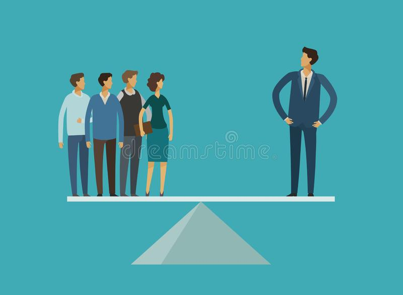 Business concept. Career, leader, superiority, rivalry vector illustration royalty free illustration