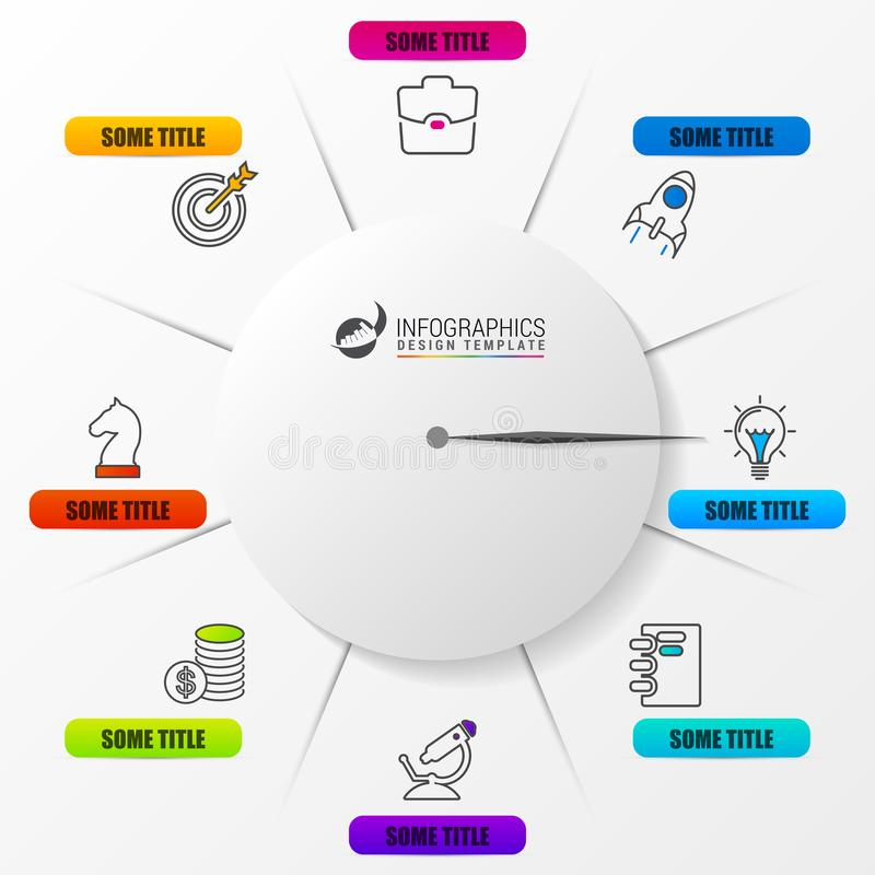 Business Concept With Clock. Infographic Design Template Stock ...