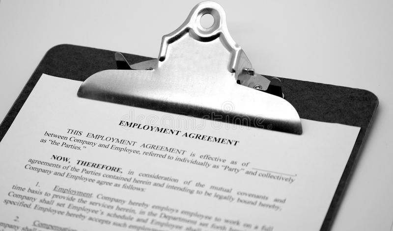 Download Employment Agreement stock image. Image of help, company - 36414719